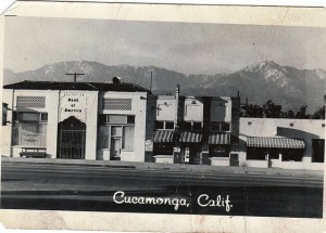BANK OF AMERICA CUCAMONGA CALIF. 1955