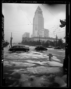 SNOW IN LOS ANGELES 1949 1
