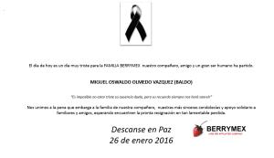 Esquela - Miguel Oswaldo Olmedo