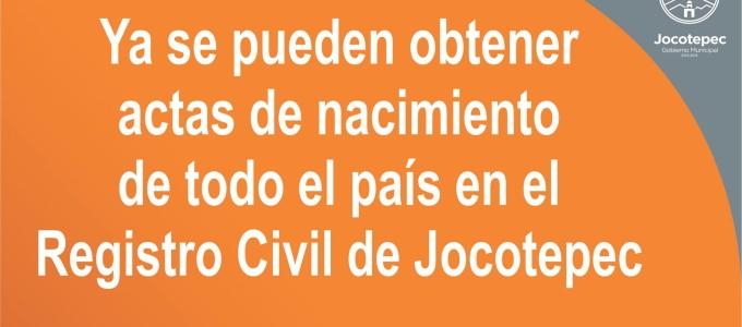 Disponibles Actas de nacimiento de todo el país,en Jocotepec,Jalisco