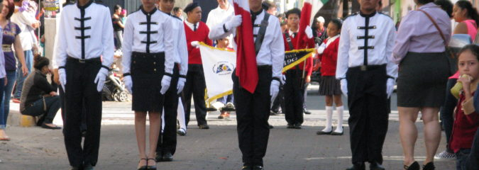 Desfile cívico en Jocotepec Jalisco